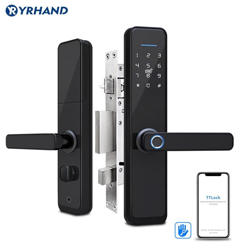 Smart Fingerprint Lock Security Door Lock Smart Keyless Smart Deadbolt Door Lock Digital App RFID Door Lock Smart Home Door Lock