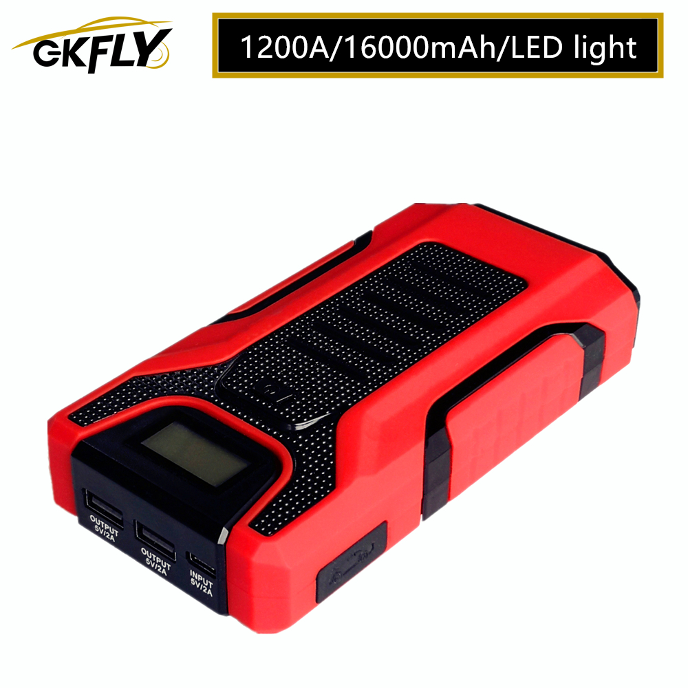 1200A Multifunction <font><b>Car</b></font> Jump Starter Portable Power Emergency <font><b>Battery</b></font> Booster <font><b>Car</b></font> <font><b>Charger</b></font> <font><b>battery</b></font> Starting <font><b>Cables</b></font> Deveice image