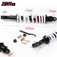 TDPRO 430MM 17 Rear Shock Absorber Motorcycle Damper Shocker Suspension For Harley Scooter 150cc 200cc 250cc Dirt Pit Bike ATV
