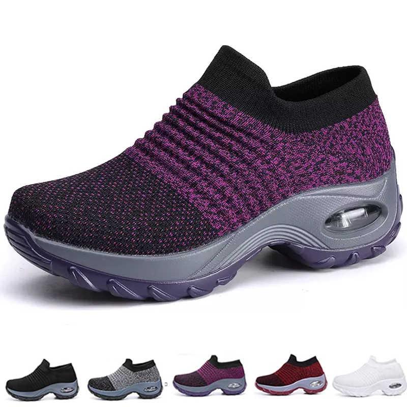 Nữ Flat Tiệc Giày Mềm Mại Và Thoáng Khí Trọng Colorblock Cách Hàn Đệm Không Khí Nam Nữ