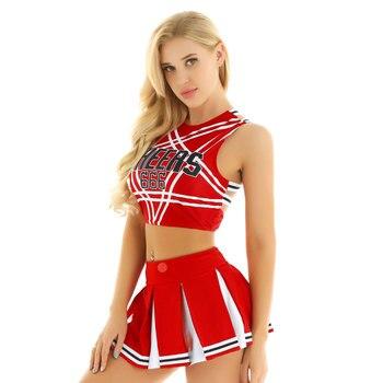 Schoolgirl Cosplay Cheerleader Costume 6