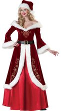 Luxo feminino traje de natal cosplay casal miss papai noel uniforme férias
