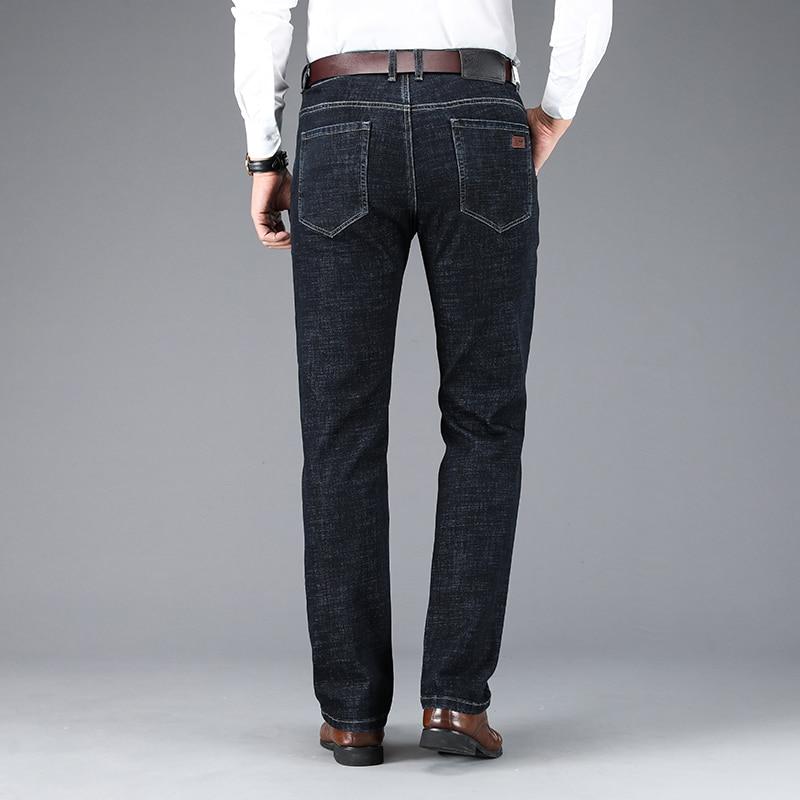 Male Jeans Men Men'S Jean Homme Denim Slim Fit Pants Trousers Straight Blue Black Biker Casual Business Classic Fashion Designer