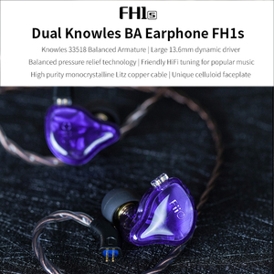 Image 2 - FiiO FH1s היי Res 1BA + 1DD (נואלס 33518,13.6mm דינמי) ב אוזן אוזניות IEM עם 2pin/0.78mm נתיק כבל פופולרי מוסיקה