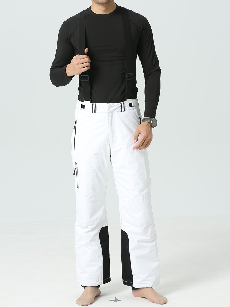 2019 Ski Pants Winter Pants Men White Snowboard Trousers Ski Overalls Male Outdoor Sport Thicken Pants Skiing Snowboard Pants