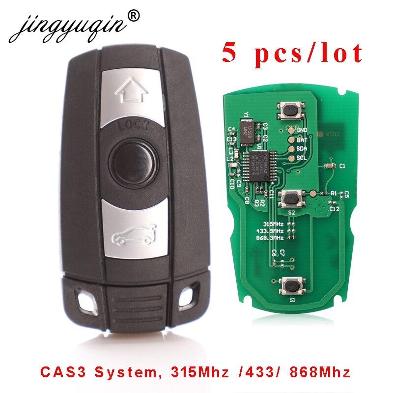 Jingyuqin clé à distance système BMW CAS3   5 pièces/lot, 315MHz / 868Mhz FSK pour X5 X6 Z4 série 1/3/5/7, commande de véhicule, clé intelligente