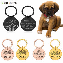 Customized Name Address Tags Pet Dog Tags Cat Collar Accessories Decoration Pet ID Dog Tags Collars Stainless Steel Cat Tag