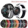Ремешок силиконовый для Samsung Galaxy watch 3 41 45 мм 46 42 мм, браслет для Gear s3 active Huawei Watch 2 Amazfit GTS/2e, 22 мм 20 мм