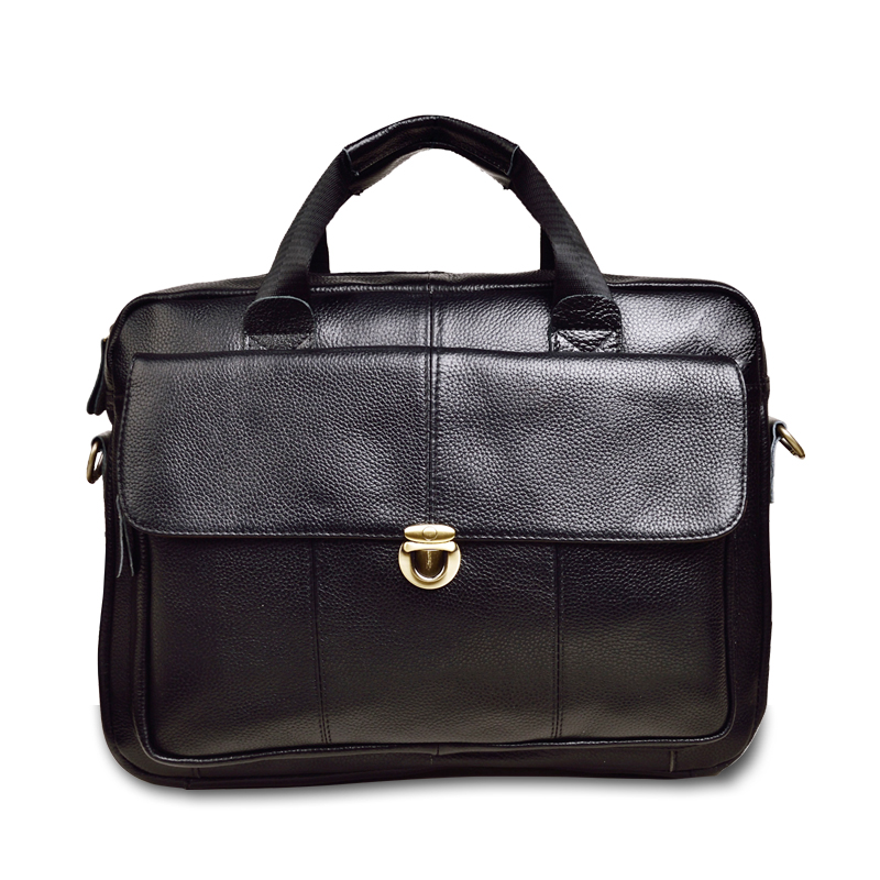 Classic Men's Handbag Business Briefcase Men's Bag Genuine Leather Shoulder Messenger Bag Casual Computer Bag Office Laptop Bag