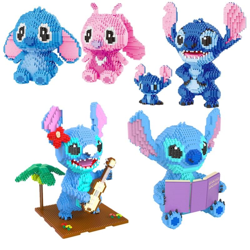 7styles 2021 Disney  Build Block Story Stitch Building Block Building Brick Toy Cartoon Character Teaching Children's Toy