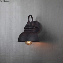 Lámpara de pared Retro Industrial lámpara de pared accesorios Vintage para restaurante mesita de noche Bar Café hogar iluminación E27