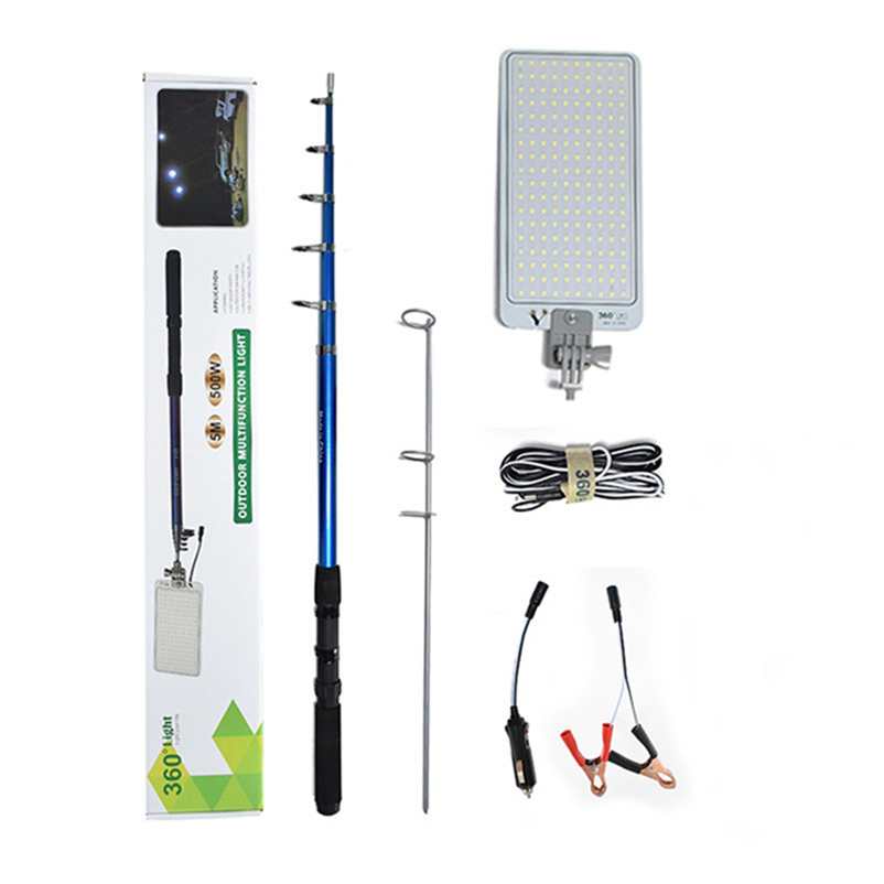Portable Outdoors Road Travel Household Emergency Lighting Ip65 Rechargeable COB Dimmable 4.5m Telescopic Post LED Floodlights