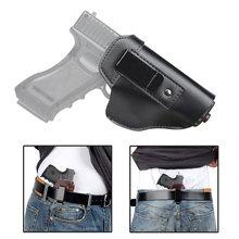 Funda táctica de cuero oculto para pistola IWB, bolsa con Clip para cinturón, derecha, izquierda, para Glock 17, 19, 22, 23, 43