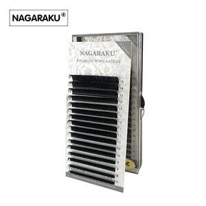 Image 2 - NAGARAKU 4 cases 7~15mm MIX in one tray 16rows/tray mink eyelash extension,natural eyelashes,individual false eyelash cilia lash