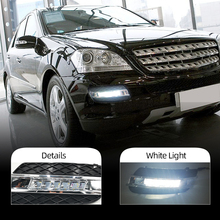 DRL Für Mercedes Benz ML350 W164 ML280 ML300 ML320 2006 2007 2008 2009 Tagfahrlicht Nebel kopf Lampe abdeckung auto styling
