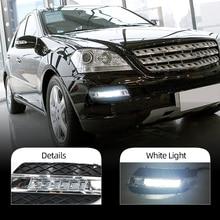 DRL For Mercedes Benz ML350 W164 ML280 ML300 ML320 2006 2007 2008 2009 Daytime Running Lights Fog head Lamp cover car styling