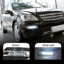 DRL Mercedes Benz için ML350 W164 ML280 ML300 ML320 2006 2007 2008 2009 gündüz farları sis kafa lambası kapağı araba styling