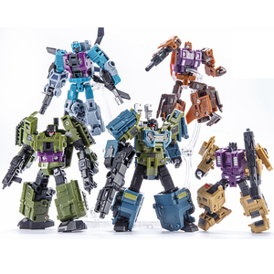 Image 4 - Transformation Bruticus 5IN1 G1 PT05 PT 05 Oversize 27CM Anime Action Figure Robot Kids Toys Combination Deformation Collection