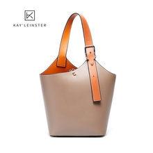 Новая модная сумка ведро из натуральной кожи сумки шопперы для