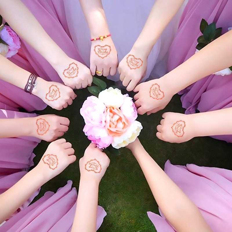 """Девичник, с надписью """"Bride To Be"""" девичник вечерние свадебный душ Свадебная вечеринка украшения для невесты курица вечерние аксессуары для татуировки Стикеры"""