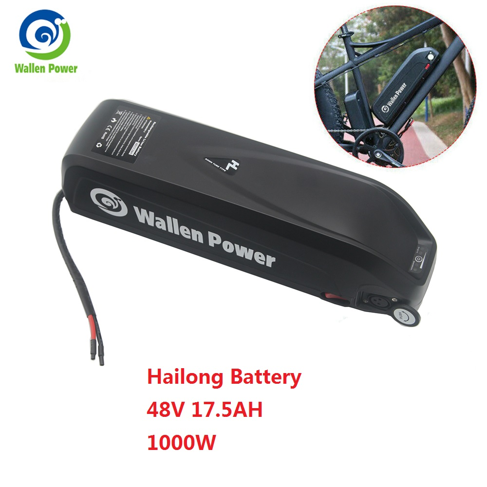 Wallenpower E-bike Hailong battery 48V 17.5Ah lithium ion electric bike 48v battery for bafang motor kit 1000w 750w