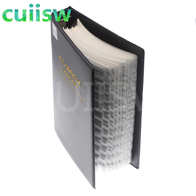 0402 SMD Capacitor Sample Book 80valuesX50pcs=4000pcs 0.5PF~1UF Capacitor Assortment Kit Pack 3