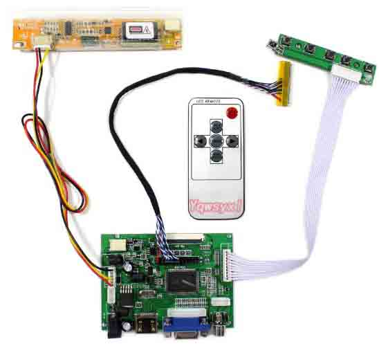 Yqwsyxl HDMI+VGA 2AV LCD Controller Board Work For 14.1inch LCD Screen LTN141AT03 M141NWW1 QD14TL01 B141EW01 LP141WX3 1280x800