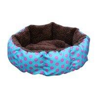 القط عش الملونة ليوبارد طباعة القط و سرير كلب الوردي الأزرق البني المصفر ، عميق الوردي حجم Sml XL جرو البيت|أسرة ومفارش القطط|المنزل والحديقة -
