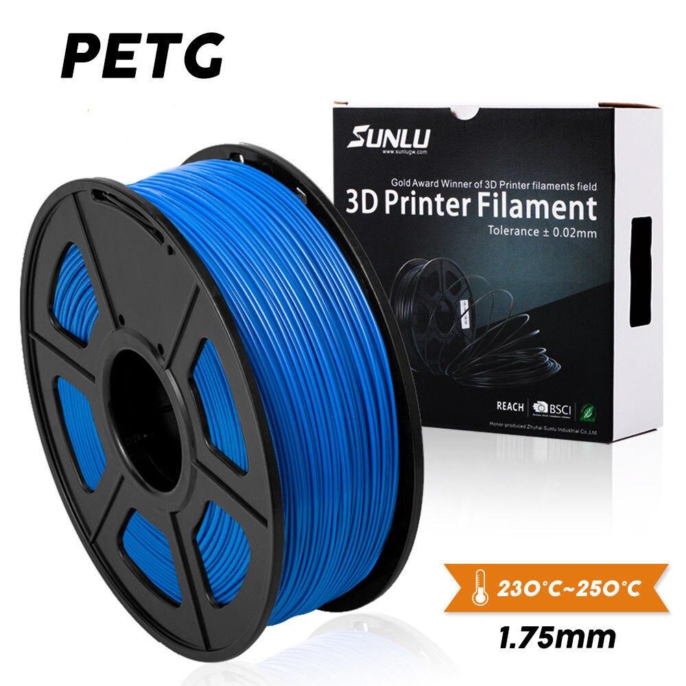 Filament PETG 1.75mm imprimante 3d 1kg nouvelle offre spéciale sublimation avec 0.02 de tolérance pour les adolescents explorer l'imagination
