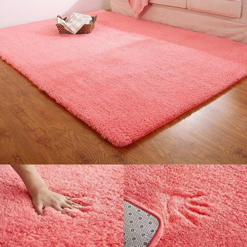 Alfombra para sala de estar, alfombra sólida, suave y esponjosa decoración del hogar, alfombra de felpa blanca, alfombras para dormitorio infantil, alfombras de cocina, Tapete