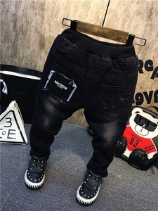 Image 3 - Children Pants Winter Boys Thickened Jeans Spring Baby Boys Casual Trousers Fashion Children Clothing Jeans Boys Kids Pants