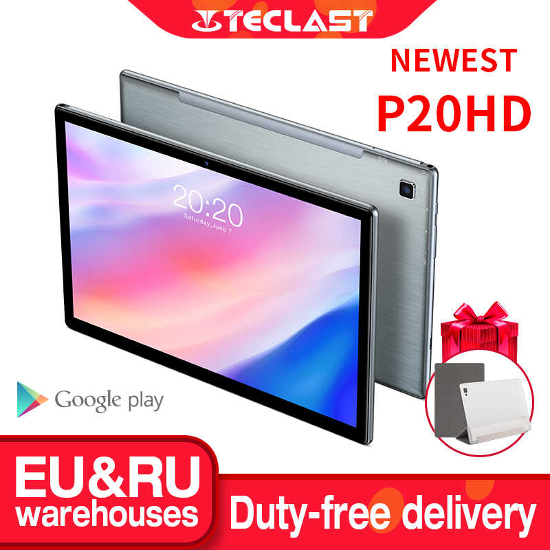 Neueste Teclast P20HD Tablet Android 10 Tabletten PC 4G LTE 10,1 inch 4GB RAM 64GB ROM 1920x1200 SC9863A Octa Core Tabletas GPS