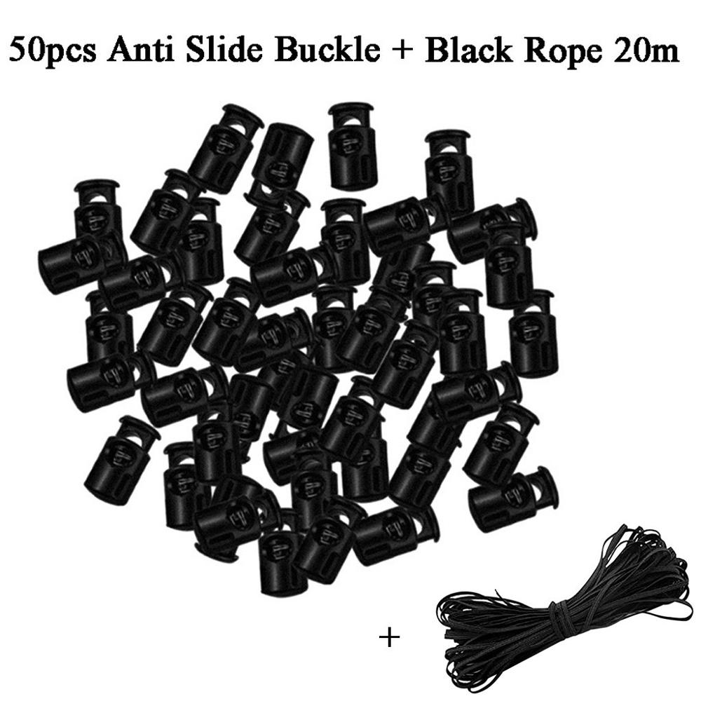 Rope Stopper 2 Hole Cord Spring Locks Plastic Toggle Stoppers Spring Stop for Shoelace Clothes Use 10 Pcs Cost-Effective and Good Quality