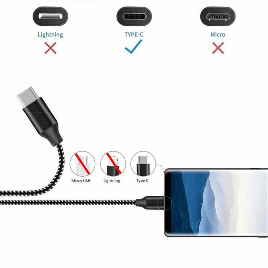 USB Tipe C Cepat Pengisian Kabel untuk Kehormatan V20 Motorola G7 G6 Plus MOTO Z 2018 Moto X4 2017 Z2 bermain Z Force USB-C Charger