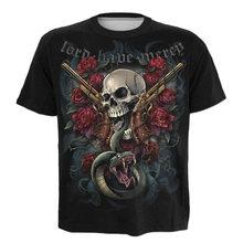 3d футболка с рисунком черепа розы змеи триллер женская цифровым