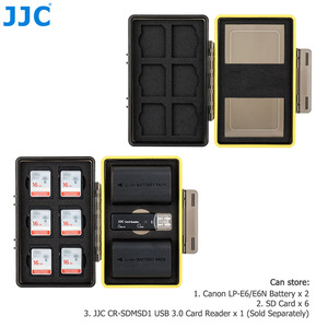Image 2 - JJC Camera Battery Box Memory Card Case Holder Storage for SD SDHC SDXC MSD Micro SD MicroSD XQD CF Cards AA Battery for DSLR