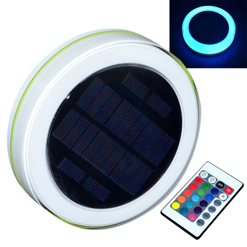 Outdoor Swimming Pool Underwater Colorful Lights Waterproof Solar Led Pool Lights Outdoor Solar Water Drift Lights Wedding Party LED Downlights     - title=