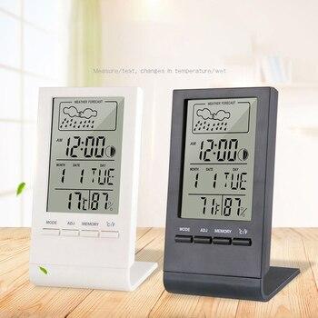 Термометром и гигрометром декоративные часы для Датчик Индикатор в помещении/на открытом воздухе/Погодная станция автоматический электронный Температура влажности монитор часы #1