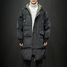 2019 Winter New Long Casual Hooded Jacket Parkas Men Outdoor Fashion Warm Thick
