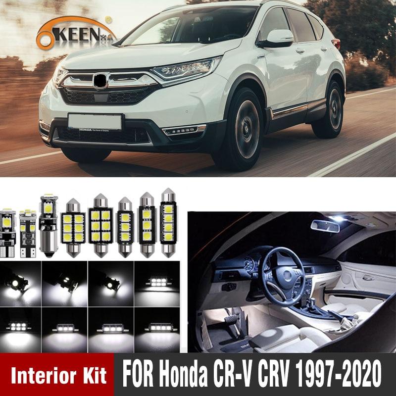12pcs LED Interior Lights Bulbs Kit Package White for 2016-2017 Honda HRV