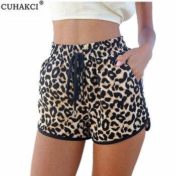 Women Summer Casual Leopard Printed Shorts Plus Size S-XL Womens Short Pants