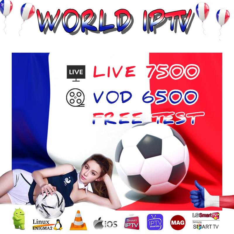 1 Year Europe US UK Brazil Poland Spain French IPTV Subscription 7500+Live France HD IPTV M3u Enigma2 Vod Sports Adult Free Test