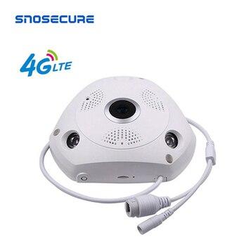 цена на SNOSECURE 3MP IP Camera 3G 4G GSM SIM Wireless IP Camera IR-CUT Night Vision CCTV Video Surveillance Onvif Cameras Fisheye 360°