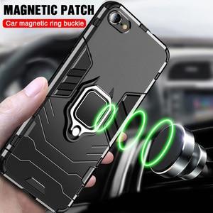 Image 2 - 高級防具ソフト耐震ケースに Iphone XR XS Max X シリコーンバンパーケース Iphone 11 プロ最大 6 7 8 プラス金属リング