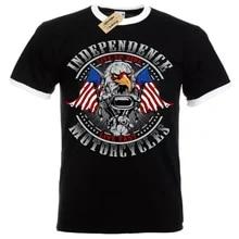 Independencia motos camisa ao vivo rápido eua águila hombre ringer