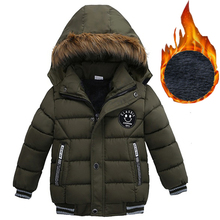 2019 Autumn Winter Baby Boys Jacket Jacket For Boys Children Jacket Kids Hooded Warm Outerwear Coat For Boy Clothes 2 3 4 5 Yrs cheap Cotton 0 5kg CN(Origin) Fashion Print Regular baby coat Outerwear Coats zipper Fits true to size take your normal size