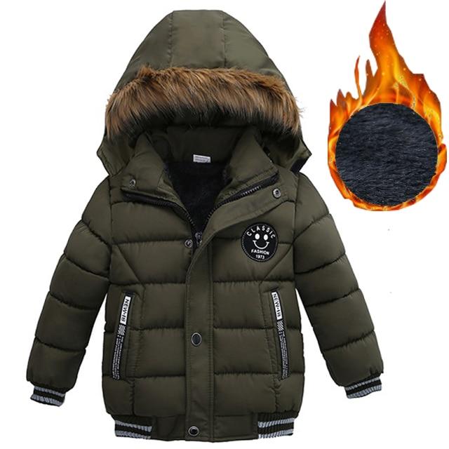 Детская куртка с капюшоном, теплая верхняя одежда для мальчиков 2, 3, 4, 5 лет, Осень-зима 2019