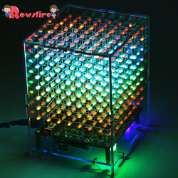DIY Welding Electronic Bulk Parts Bluetooth Light Cube Kit With Bluetooth, With Horn, Remote Control, Seven Colours Changing