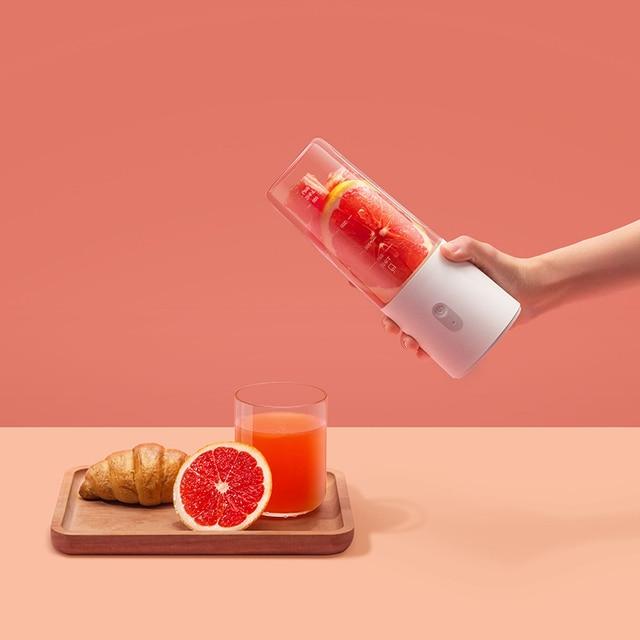Original Xiaomi Mijia Electric Blender Mixer Portable Juicer Rechargeable Fruit And Vegetable Blender Miniature Food Processor 5