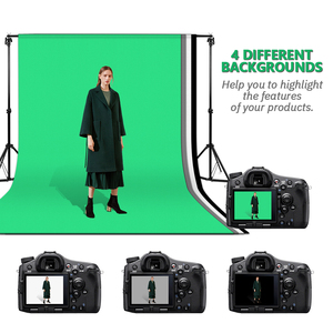Image 5 - ZUOCHEN תמונה סטודיו רקע מתכווננת תמיכה Stand ערכת 1.6x3m שחור/לבן/ירוק/אפור רקע מסך